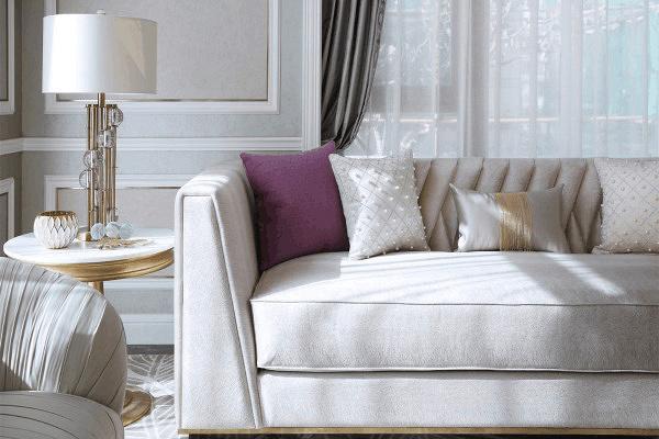 【北鼎装饰】客厅装修得很杂乱?肯定是沙发抱枕选错了!